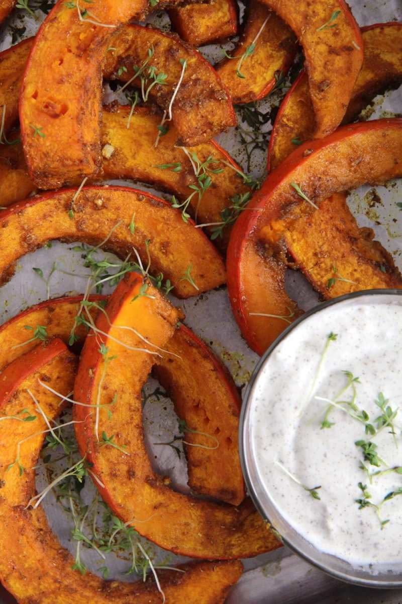 Spicy Roasted Pumpkin Wedges - Simple and Delicious